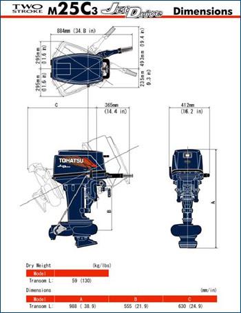 Подвесной лодочный мотор Tohatsu M25 Jet Drive - изображение 2. Щёлкните, чтобы увеличить.